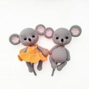 мк мышка в платье крючком