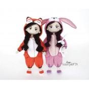 Кукла в костюме Кигуруми