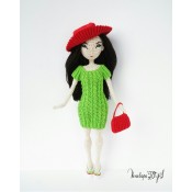 Кукла Джесика в зеленом платье
