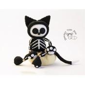 Черный кот Скелетон