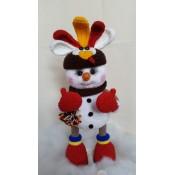 МК Снеговичок в костюме петушка