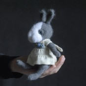 Заяц мини в стиле Тедди без одежды