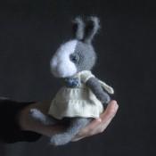 Заяц мини в стиле Тедди в платье.