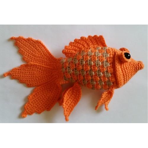 Вязание крючком рыбки 16