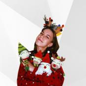 МК Новогодние игрушки бык, олень, эльф, Дед мороз