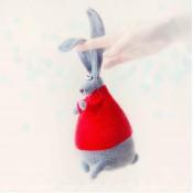 Заяц Ждун игрушка крючком