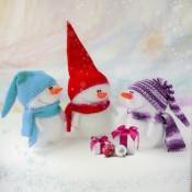Снеговик игрушка спицами новогодний сувенир