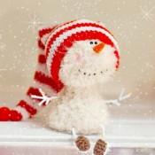 Снеговик мастер-класс крючком