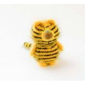 Тигр игрушка мк спицами