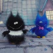 Летучая мышь игрушка спицами