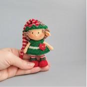 Кукла брелок Новогодний гном