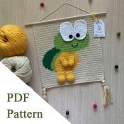Turtle PDF pattern, crochet