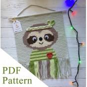 Sloth PDF pattern, crochet