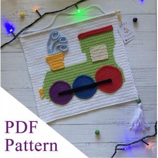 Locomotive PDF pattern, crochet