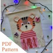 Tiger PDF pattern, crochet