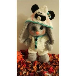 Мастер-класс вязание зайки монечки в костюме панды