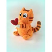 МК по вязанию стикера кот Персик с сердечком