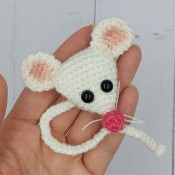 Вязаный магнит Мышка (фото МК)