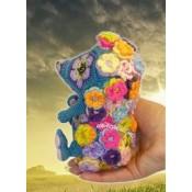 ЕжеЦВетик игрушка из цветочных мотивов МК