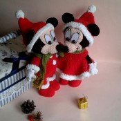 Mickey Mouse и Minnie Mouse крючком.МК