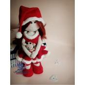 Мастер-класс по вязанию крючком.Кукла мисс Санта