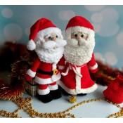 Дед Мороз и Санта Клаус. МК по вязанию крючком.