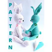 Sleeping Bunny/English crochet pattern