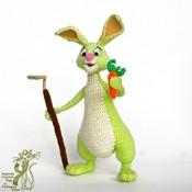 Вязаный Кролик Огородник. Заяц амигуруми