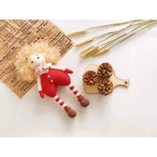 МК по вязанию крючком куколки Валентинки