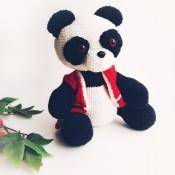 Мастер-класс по вязаной панде Сьюзи