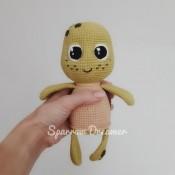 Черепашка с большими глазами схема вязания