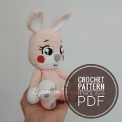 Zoya the bunny crochet pattern Amigurumi