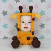 """Квадратная Фоторамка крючком """"Жираф"""""""
