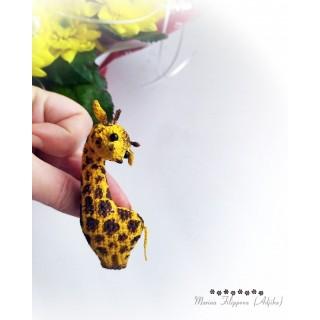 Жираф, описание вязания