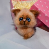 Брошь Котёнок
