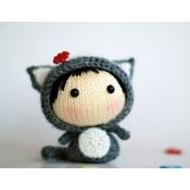 Маленькая куколка Серая Кошка из серии Tanoshi
