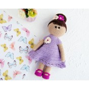 Платье крючком для куклы 30 см
