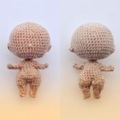 Фигуристое тело куколки 4 см