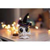 МК привидение вязаный декор к Хэллоуину