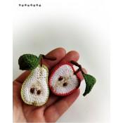 Фруктовые броши (яблоко и груша)