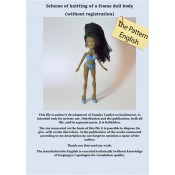 Scheme of knitting of a frame doll body