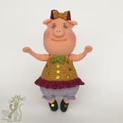 МК Свинка мисс Грюня. Вязаная хрюшка мастер-класс
