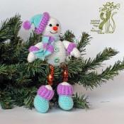 Новогодний сувенир Снеговичок