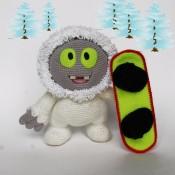 МК Вязаный снежный человек. Йети Муник. Монстрик