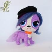 Пурпурная собачка-питомец Зое